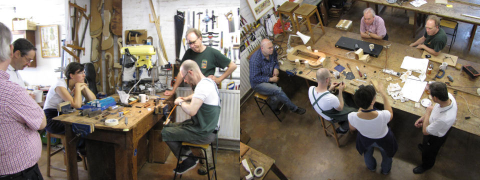 Bowmaking summer courses are taught in small groups with just five or six participants each week.